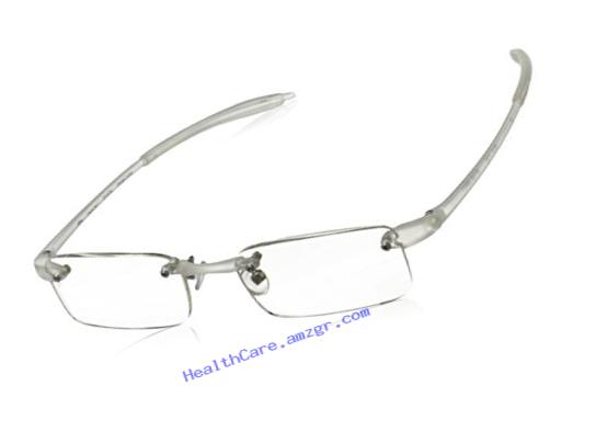 Visualites 201 Reading Glasses,Crystal Frame/Clear Lens,3.00 Strength,48 mm