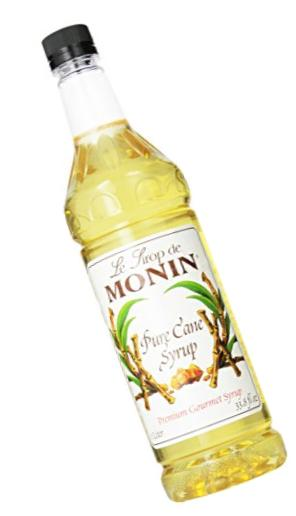Monin Simple Syrup, Pure Cane, 33.8-Ounce Plastic Bottles (Pack of 4)