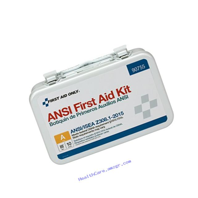 First Aid Only 90755 ANSI 2015 Compliant 10 Person Bulk Class A, Metal, Weatherproof