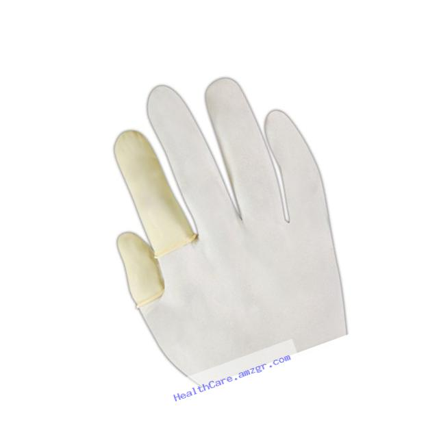 QRP 5C-L Gloves and Finger Cots 5C Powder-Free Latex Finger Cots for ISO Class 5 Applications, White , Large (Pack of 144)