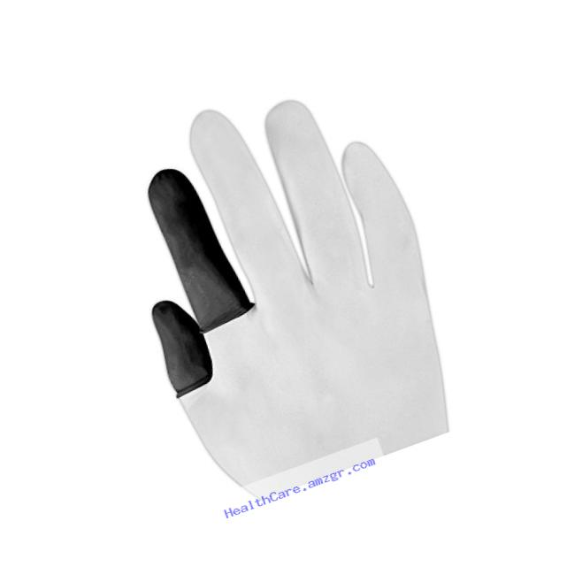 North by Honeywell 125LBR/M 115LBR/125LBR Black Disposable Static-Dissipative Latex Finger Cots, White , Medium (Pack of 144)