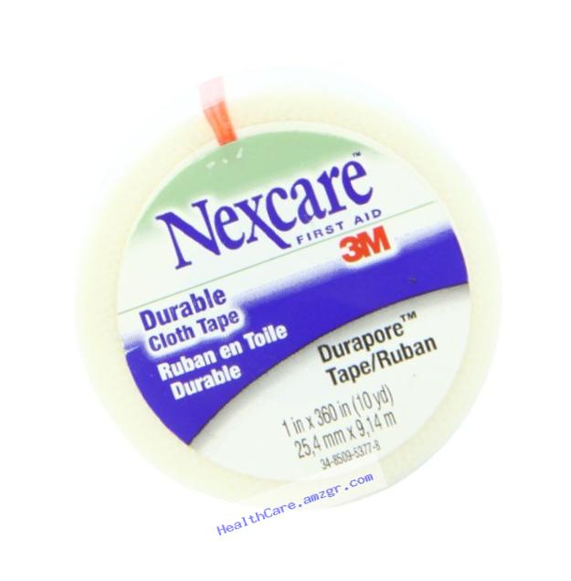 Nexcare Durapore Cloth First Aid Tape 1 Inches X 10 Yards Rolled, 0.08 Pound
