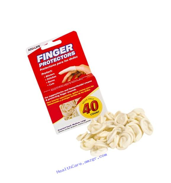 Acu-Life Rubber Finger Cots (40 Count)