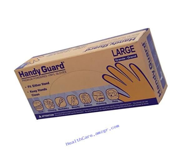 Adenna Handy Guard 3.5 mil Vinyl Powdered Gloves (Translucent, Large) Box of 100