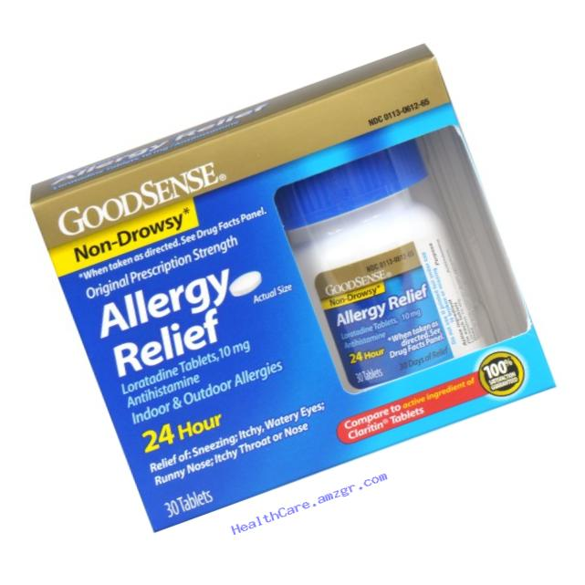 GoodSense Allergy Relief Loratadine Tablets, 10 mg, 30 Count Bottle