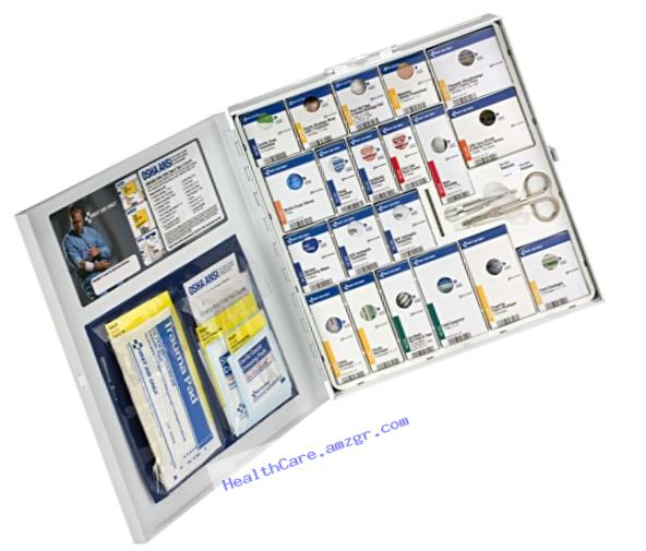 First Aid Only 746004 ANSI 2015 Compliant Large Metal SmartCompliance First Aid Cabinet without Medications
