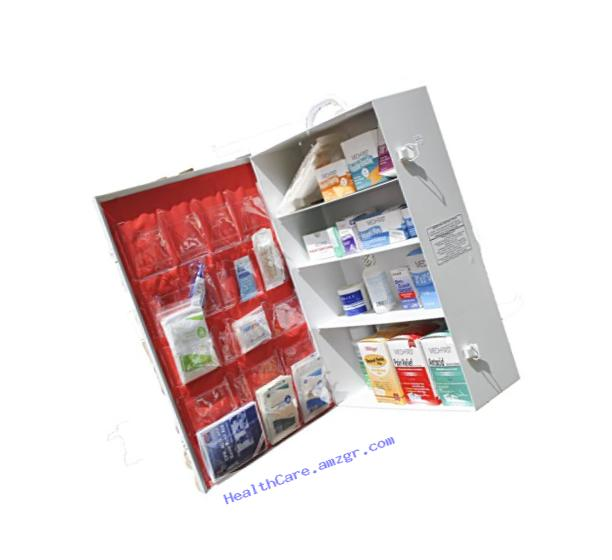 Medique 738M1 5-Shelf Industrial First Aid Cabinet, Filled