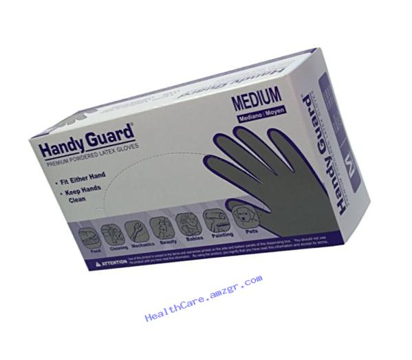 Adenna Handy Guard 4 mil Latex Powdered Gloves (White, Medium)