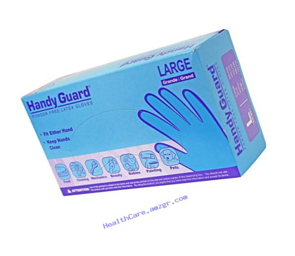 Adenna Handy Guard 4 mil Latex Powder Free Gloves (White, Large) Box of 100