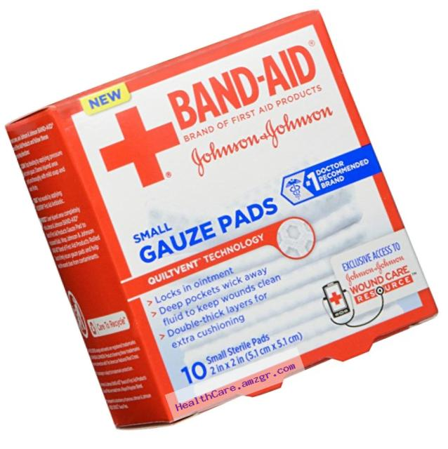 Bandaid First Aid Gauze Pads 2X2 10 ct