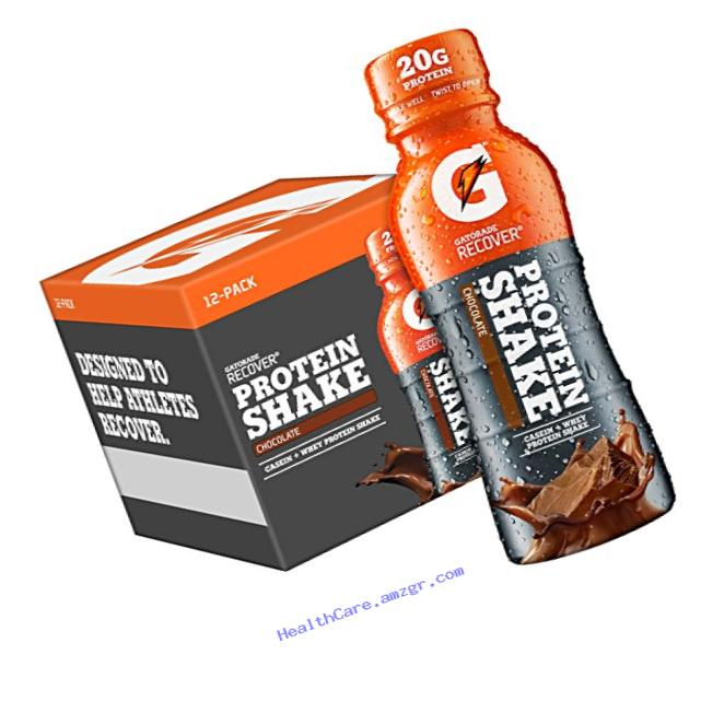 Gatorade Recover Protein Shake, Chocolate, 12 Count